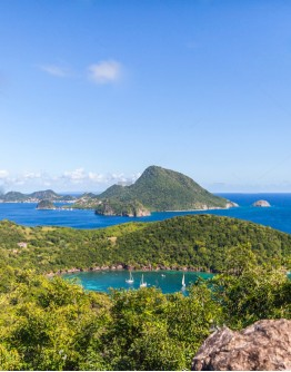 Les Saintes by motor catamaran